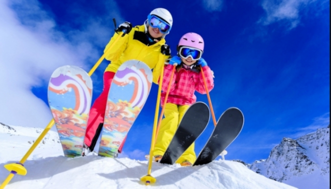 катание на горных лыжах — залог здоровья и красоты